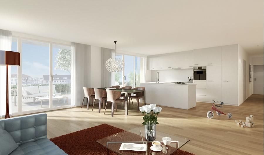 drei eichen modernes wohnen im zentrum samstagern. Black Bedroom Furniture Sets. Home Design Ideas
